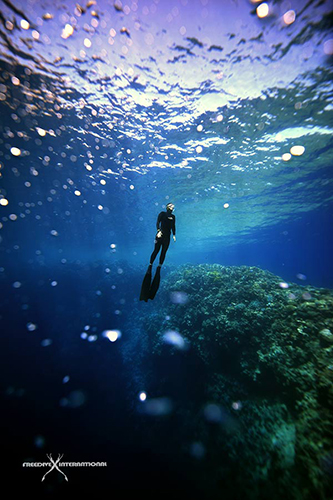 freediving blue hole